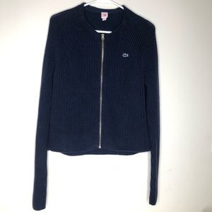 Lacoste Live Front Zipper Long Sleeve Sweater